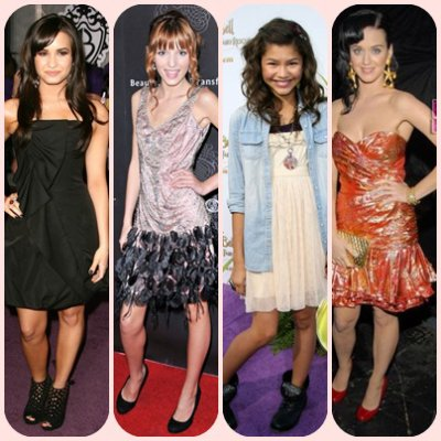 Demi Lovato,bella thorne,Zendaya et katy perry