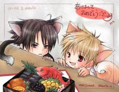 Naru et Sasu neko trop mimi =P