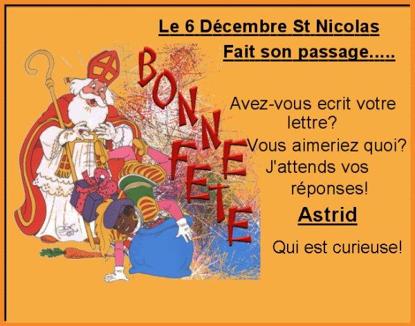 BONNE FETE DE ST NICOLAS J'AI ETE GATE