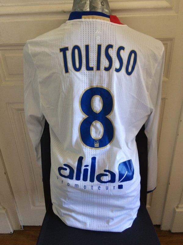 Maillot préparé Coco TOLISSO lors de OL-PSG