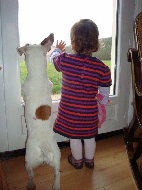 Moment de tendresse avec notre petite maîtresse
