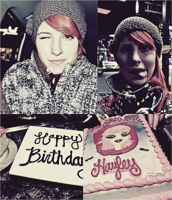 Hayley a posté quelques photos personnelles de son anniversaire sur son Tumblr