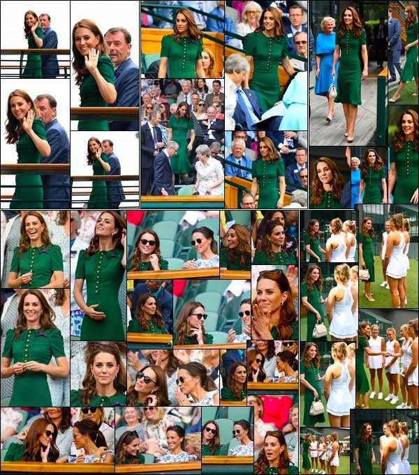 13.07.19 : La douce Duchesse Catherine s'est rendu à la grande final du tournoi de Wimbledon pour femme qu'un lieu à Londres !  Catherine était à la final avec sa s½ur Pippa Middleton. Cela fait du bien de les revoir ensemble. On sait que les Middleton adore le Tennis
