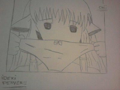Album de dessin dédié à Chii du manga Chobits