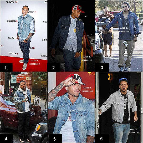 . Chris brown et ses vestes en jeans, une grande histoire d'amour.. Une préférence ?