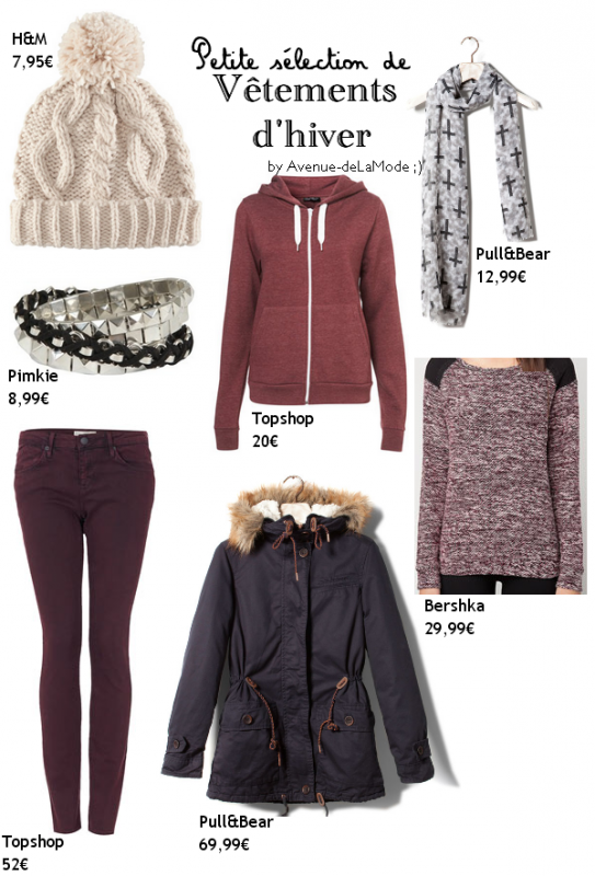 Petite sélection de vêtements d'hiver.