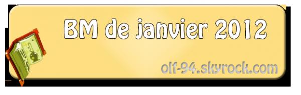 Bilan du Mois : Janvier 2012
