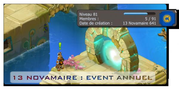 13 Novamaire 642 : Event Annuel !