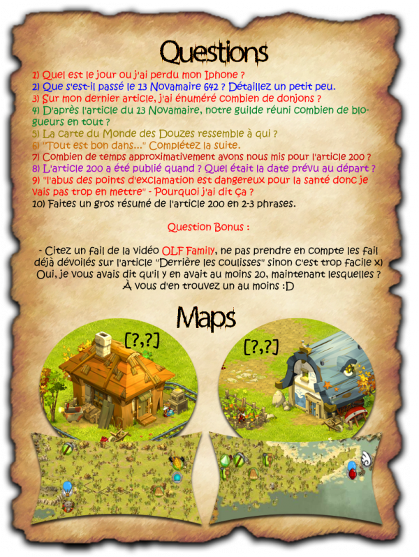 Concours OLF édition 9/ New's