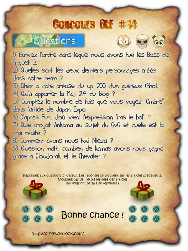 Concours OLF #14
