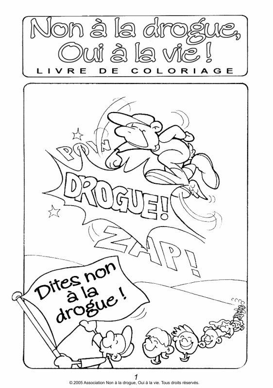 Education Drogue - un coloriage pour les petits