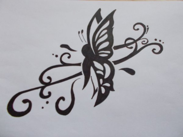 Papillon Tribal Mon Univers De Fantasy