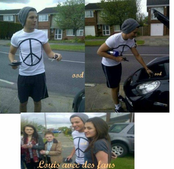 le 28 avril Niall a un match+ Louis avec des fans.