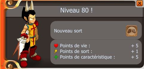 Perso up lvl 80 !