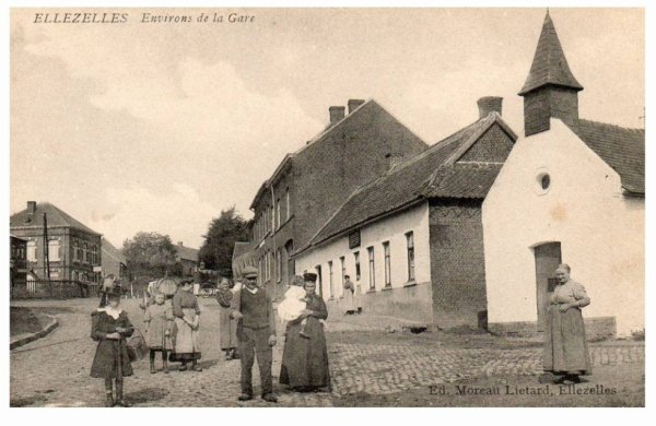 ELLEZELLES - La gare et environs