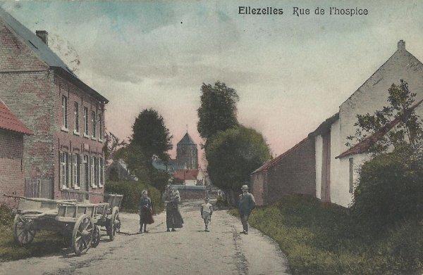 ELLEZELLES - rue de l'hospice en 1910