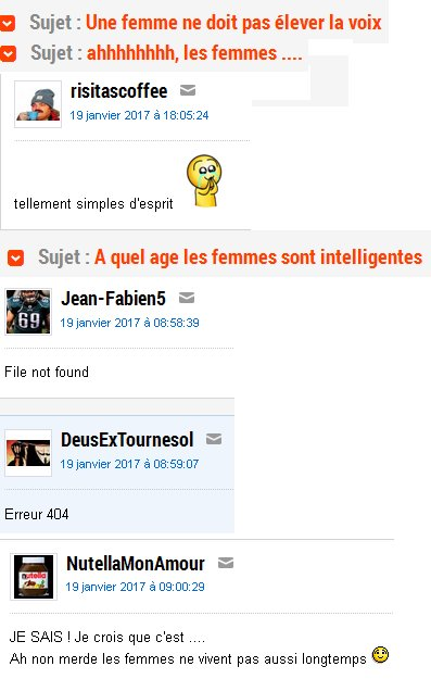 Le sexisme sur Internet