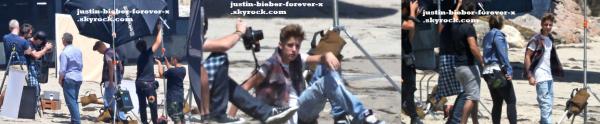 Justin sur une plage de Californie - 28 juin 2012