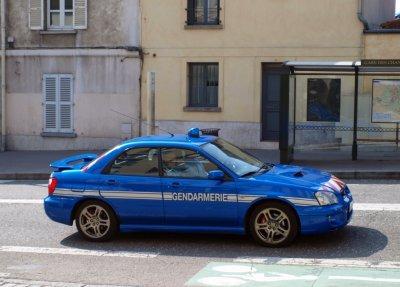 Subaru WRC de la Gendarmerie