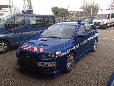 Mitsubishi Evo de la Gendarmerie