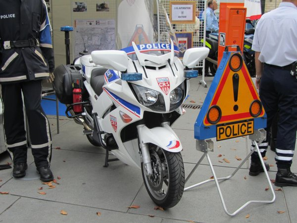 Moto de la Police Nationale
