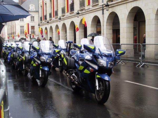 Motos de la Gendarmerie