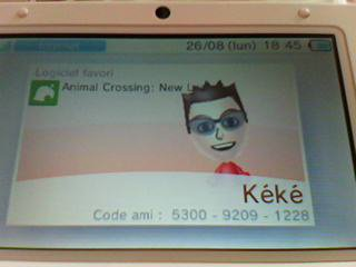 Mon code ami Animal crossing new leaf