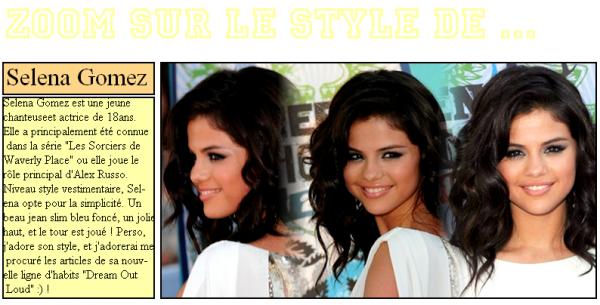 Découvre Leur Style ; Selena Gomez