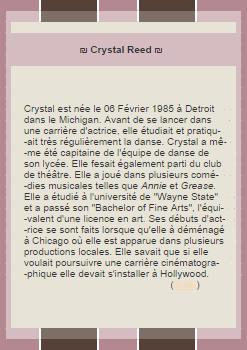 ◆Allison alias Crystal◆◆Création◆◆Création◆◆◆◆◆◆Décoration◆