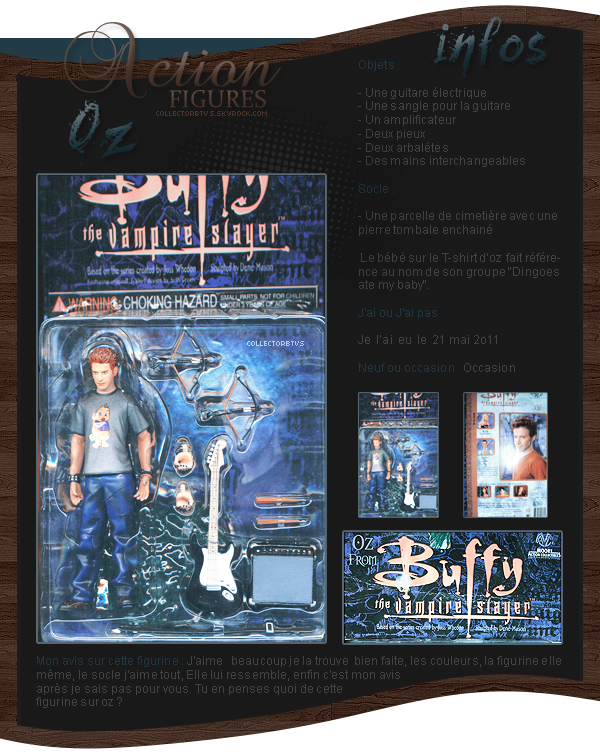 figurines - oz  - buffy contre les vampires