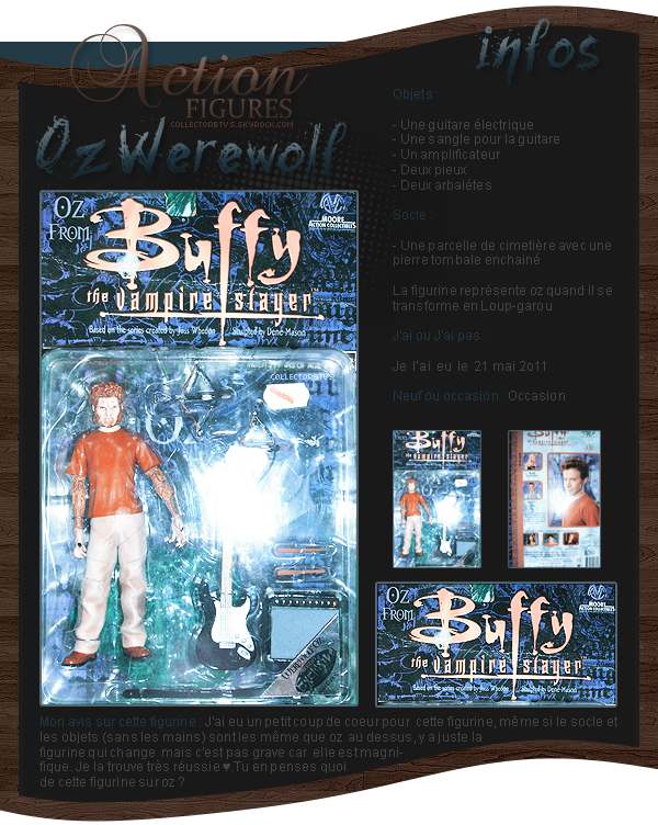 figurines - oz  werewolf - buffy contre les vampires