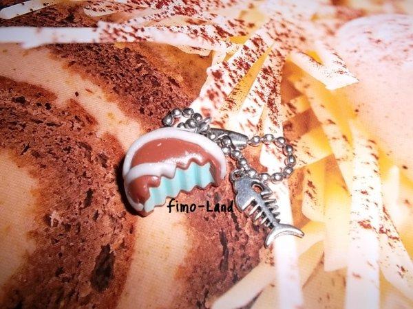 Bijoux de sac gâteau fourré en fimo ✔