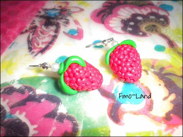 Boucles d'oreilles Framboise  ✔