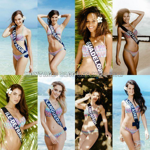Photos officielles des candidates au titre de Miss France 2016