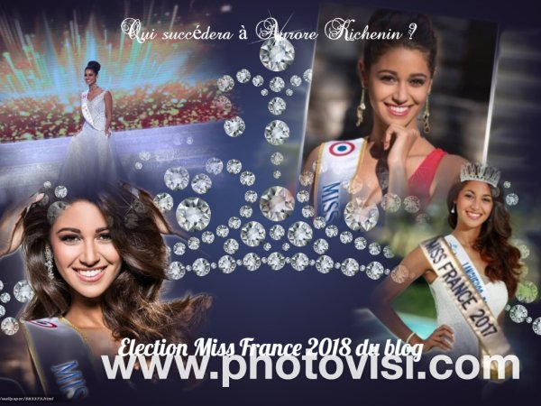 Election Miss France 2018 du blog