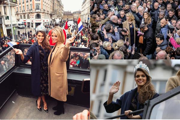 Retour d'Iris Mittenaere (Miss Univers 2016) ~ Lille