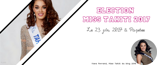 Election Miss Tahiti 2017