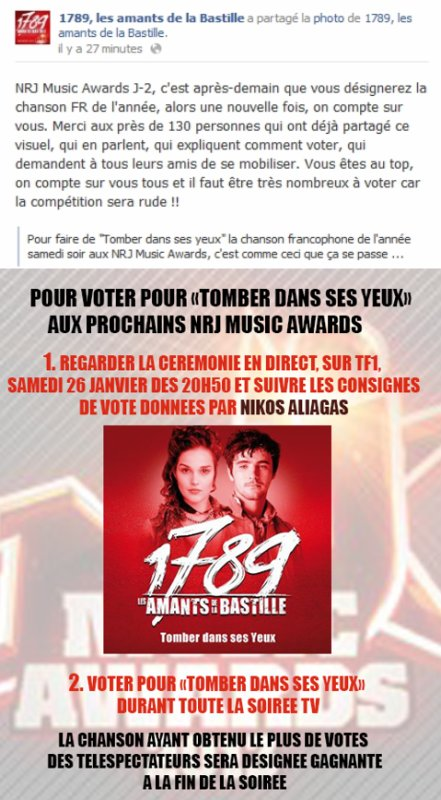 J - 2 ... NRJ Music Awards !