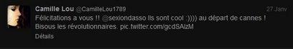 Camille twitte de nouveau !