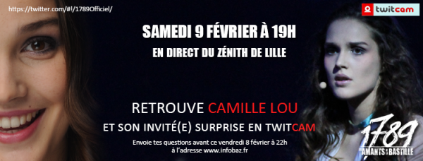 Twitcam avec Camille et son invité(e) surprise, samedi 9 février à 19H