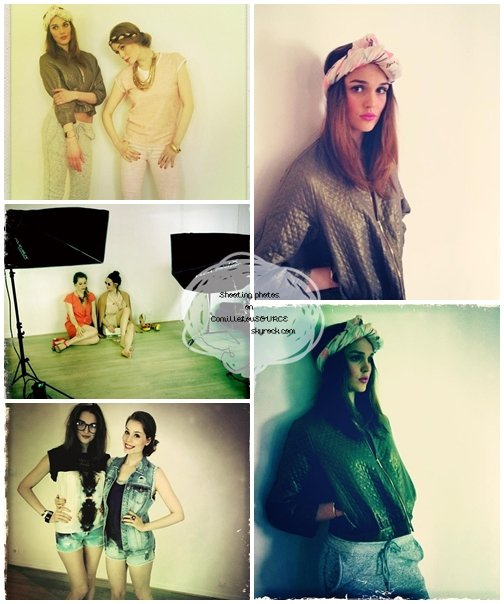 En plein shooting photos, Camille & Roxane
