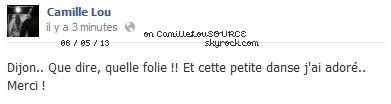 Les statuts Facebook de Camille, 6 et 7 mai 2013