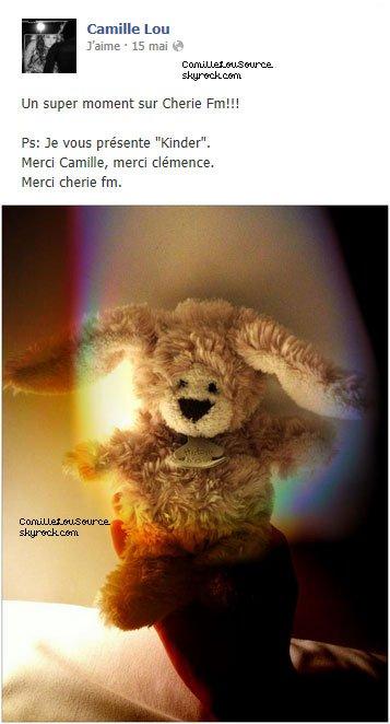 Statuts Facebook de Camille le 15 Mai