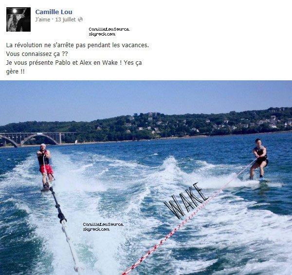 Statuts Facebook de Camille le 7/8/9/13/15 Juillet 2013