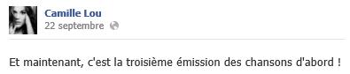 Status Facebook du 22/09/2013