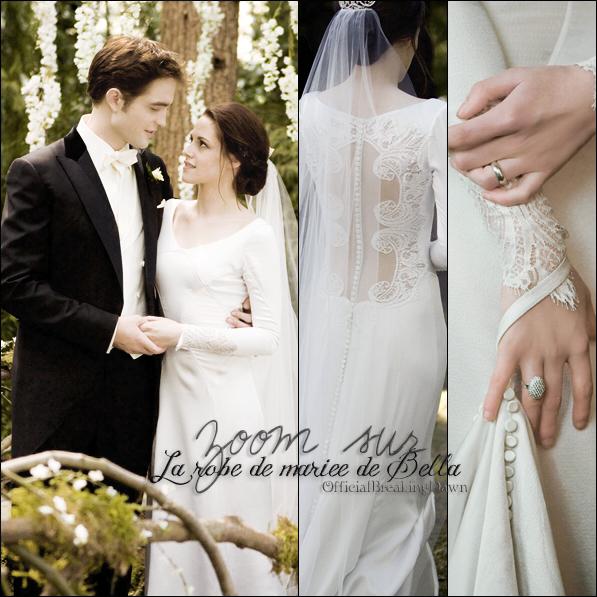 Petit zoom sur la robe de Bella dans Breaking Dawn: Partie 1...
