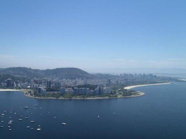 Rio de Janeiro - Pão de açucar ( une vue sur Rio)