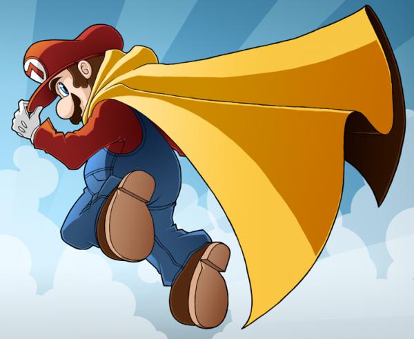 Mario avec une cape