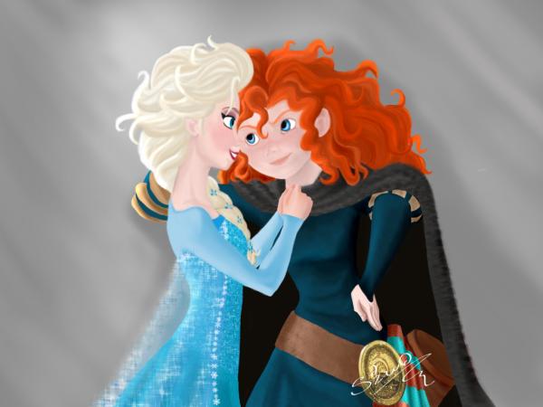 Elsa x Merida