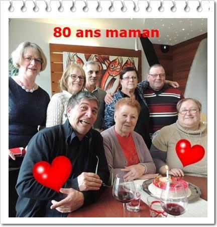 les 80ans de maman